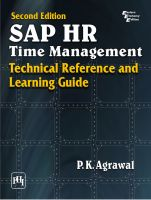 Sap Hr Time Management: Technical Reference and Learning Guide: Book by P. K. Agrawal