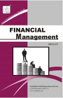 MCO7 Financial Management (IGNOU Help book for MCO-7 in English Medium): Book by Sudhir Kochhar
