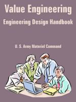 Value Engineering: Engineering Design Handbook: Book by U.S. Army Materiel Command