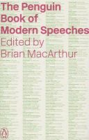 The Penguin Book of Modern Speeches: Book by Brian MacArthur