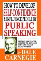 How to Develop Self Con. & Infl.People by Public Speaking: Book by Dale Carnegie