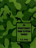 An Infantryman's Guide to Urban Combat: Book by U. S. Army