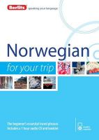 Berlitz Language: Norwegian for Your Trip: Book by Berlitz