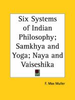 Six Systems of Indian Philosophy; Samkhya: Book by F. Max Muller