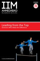 Leading from the Top: Directors Who Makes the Difference: Book by Dr N. Balasubramanian