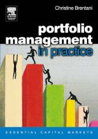 Portfolio Management in Practice:Book by Author-Christine Brentani