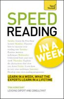 Teach Yourself Speed Reading in a Week:Book by Author-Tina Konstant
