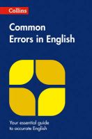 Collins Common Errors in English: Book by Collins Dictionaries