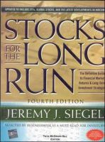 Stocks For The Long Run 4th Edition:Book by Author-Jeremy Siegel