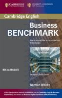 Business Benchmark Pre-Intermediate to Intermediate Personal Study Book BEC and BULATS Edition: Book by Norman Whitby