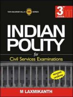 Indian Polity for UPSC Examination:Book by Author-Laxmikanth