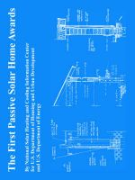 The First Passive Solar Home Awards: Book by U.S. Department of Energy