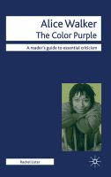 Alice Walker - The Color Purple: Book by Rachel Lister