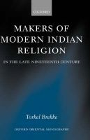 Makers of Modern Indian Religion in the Late Nineteenth Century: Book by Torkel Brekke