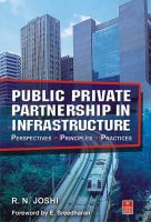 Public Private Partnership in Infrastructure: Book by R.N Joshi