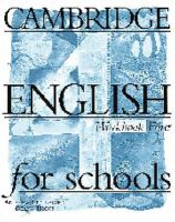 Cambridge English for Schools 4 Workbook: Book by Andrew Littlejohn , Diana Hicks