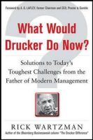 WHAT WOULD DRUCKER  DO NOW?:Book by Author-RICK WARTZMAN