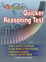 Quicker Reasoning Test: Book by Dr. M. B. Lal , A. K. Singh
