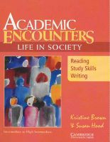 Academic Encounters: Life in Society Student's Book: Book by Brown Kristine, Hood, Susan