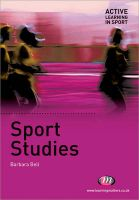 Sport Studies: Book by Barbara Bell