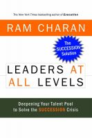LEADERS AT ALL LEVELS: Book by Ram Charan