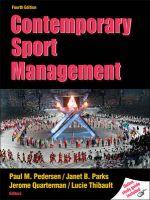 Contemporary Sport Management: Book by Paul Pedersen