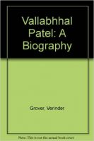 Vallabhhal Patel: A Biography: Book by Verinder Grover