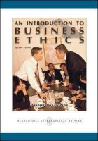 An Introduction to Business Ethics: Book by Joseph R. DesJardins