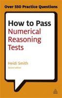 How to Pass Numerical Reasoning Tests: Book by Heidi Smith