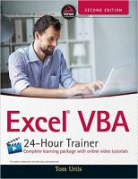 Excel Vba : 24 - Hour Trainer (English) 2nd Edition: Book by Tom Urtis