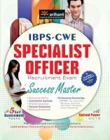 IBPS-CWE Specialist Officer Recruitment Exam Success Master (E): Book by Arihant Experts