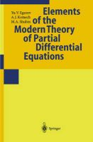 Elements of the Modern Theory of Partial Differential Equations: Book by Yu.V. Egorov