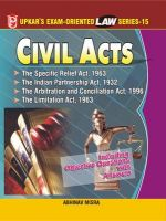 Law Series 15: Civil Acts (The Specific Relief Act,1963, The Indian Partnership Act,1932 The Arbitration and Concilation Act,1996 The Limitation Act,1963: Book by Abhinav Misra