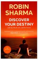 Discover Your Destiny : With The Monk who Sold his Ferrari (English): Book by Robin Sharma