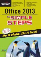 Office 2013 in Simple Steps: Do it Right, Do it Fast!