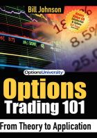 Options Trading 101: From Theory to Application: Book by Bill Johnson