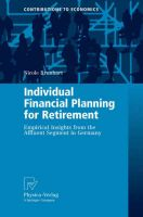 Individual Financial Planning for Retirement: Empirical Insights from the Affluent Segment in Germany: Book by Nicole Brunhart