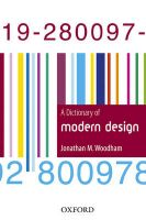 A Dictionary of Modern Design: Book by Jonathan M. Woodham