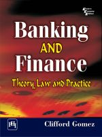 Banking and Finance: Theory, Law and Practice: Book by Clifford Gomez
