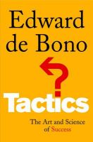 Tactics: The Art and Science of Success:Book by Author-Edward De Bono