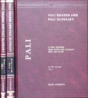Pali Reader and Pali Glossary - 2 Vols: Book by Dines Andersen