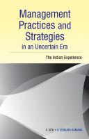 Management Practices and Strategies in an Uncertain Era : The Indian Experience: Book by edited V. Sita et al.