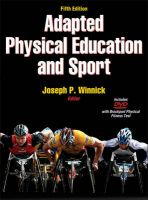 Adapted Physical Education and Sport: Book by Joseph P. Winnick
