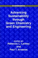 Advancing Sustainability Through Green Chemistry and Engineering:Book by Author-Rebecca Lankey ,Paul T. Anastas
