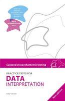 Practice Tests for Data Interpretation: Book by Sally Vanson