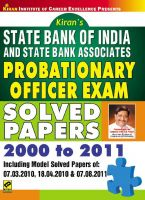 SBI and State Bank Associates Probationary Officer Exam Solved Papers (782): Book by Kiran Prakashan