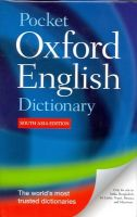 Pocket Oxford English Dictionary: Book by Oxford Dictionary