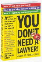 You Don't Need a Lawyer: Book by James M. Kramon