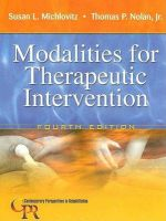 Modalities for Therapeutic Intervention: Book by Susan L. Michlovitz