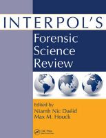 Interpol's Forensic Science Review:Book by Author-Niamh Nic Daeid ,Max M. Houck